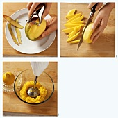 Making mango puree