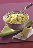 Potato risotto with peas and Parmesan