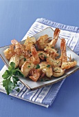 Garlic shrimps with parsley