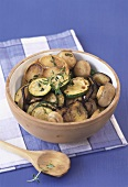 Marinated vegetables with garlic and thyme