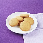 Aniseed biscuits on plate