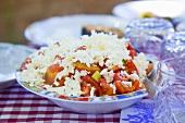 Tomaten-Gurken-Salat mit Schafskäse (Bulgarien)