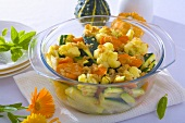 Vegetable bake (cauliflower, courgettes and carrots)