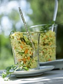 Couscous salad in glasses