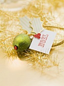 Christmas tree ornament with card