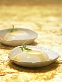 Panna cotta with acacia honey and verbena