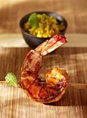 Fried king prawn (close-up)