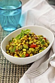 Summery bean and sweetcorn salad
