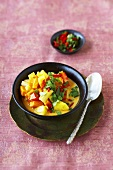 Sweet potato and pepper curry