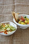 Fish & vegetable curry and prawn & pineapple curry