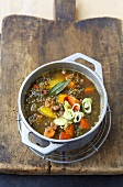 Lentil and pumpkin stew