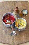 Beetroot stew and root vegetable stew