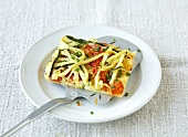 Vegetable tart with potato pastry