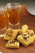 Parmesan biscuits with caraway seeds