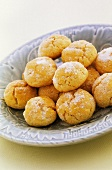 Coconut biscuits sprinkled with sugar