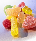 Various types of fruit jelly sweets (close-up)
