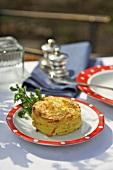 Potato gratin on plate