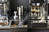 Espresso maker in kitchen