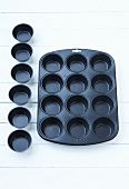 Muffin tray and muffin tins