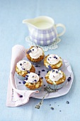 Apple cupcakes with lavender cream