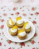 Jasmine tea and orange cupcakes