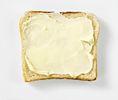 A slice of buttered bread