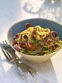 Asian noodle salad with grilled duck breast
