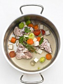 Making white veal stock