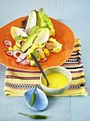 Avocado salad with dressing (Mexico)