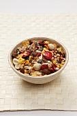 Fruit muesli in bowl