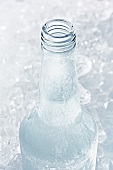 Vodka in icy bottle