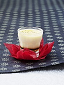 Cream caramel in a glass