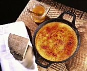 Goat's cheese crème brûlée with honey
