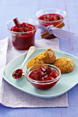 Sour cherry jam with cinnamon