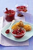 Sour cherry jam with cinnamon