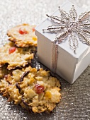 Florentines beside gift box