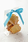 Biscuits in cellophane bag to give as a gift