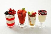 Four summer berry desserts
