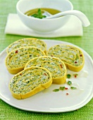 Pasta roulade with broccoli