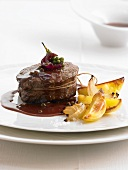 Beef fillet with red wine and pepper sauce