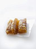 Three honeycombs