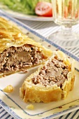 Goose liver pâté in puff pastry