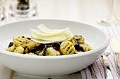 Gnocchi funghi e parmigiano (Gnocchi with mushrooms)