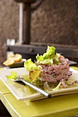 Veal tatar with capers and red onions