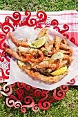 Crispy peppered prawns