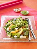 Melon salad with lemon basil and feta