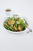 Sweet potato and rocket salad with honey and mustard dressing