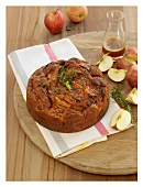 Apple and rosemary cake with rosemary toffee syrup