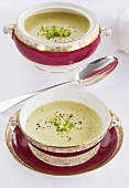 Vichyssoise (Cold potato and leek soup)