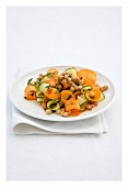 Chick-pea, courgette and carrot salad